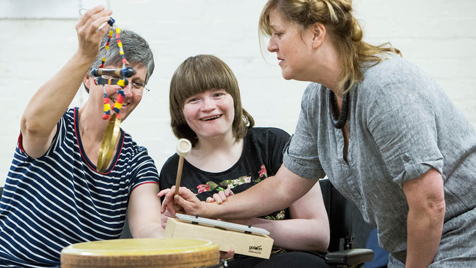 inclusive folk - disabled young person playing music